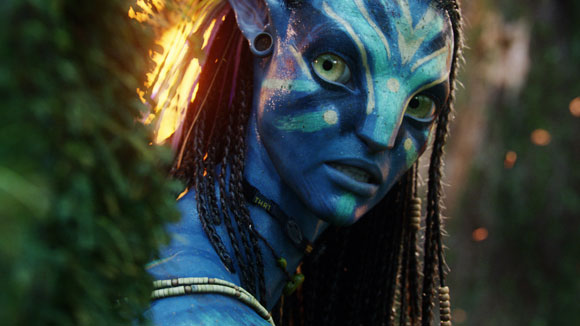 Neytiri (Zoë Saldana)  on the moon Pandora in Twentieth Century-Fox Film Corp's AVATAR. Photo: Weta Digital.