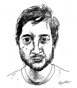 """Harmony Korine"" Drawing by Douglas Pollard"